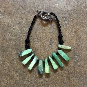 Jewelry - Turquoise and Black beaded Bracelet